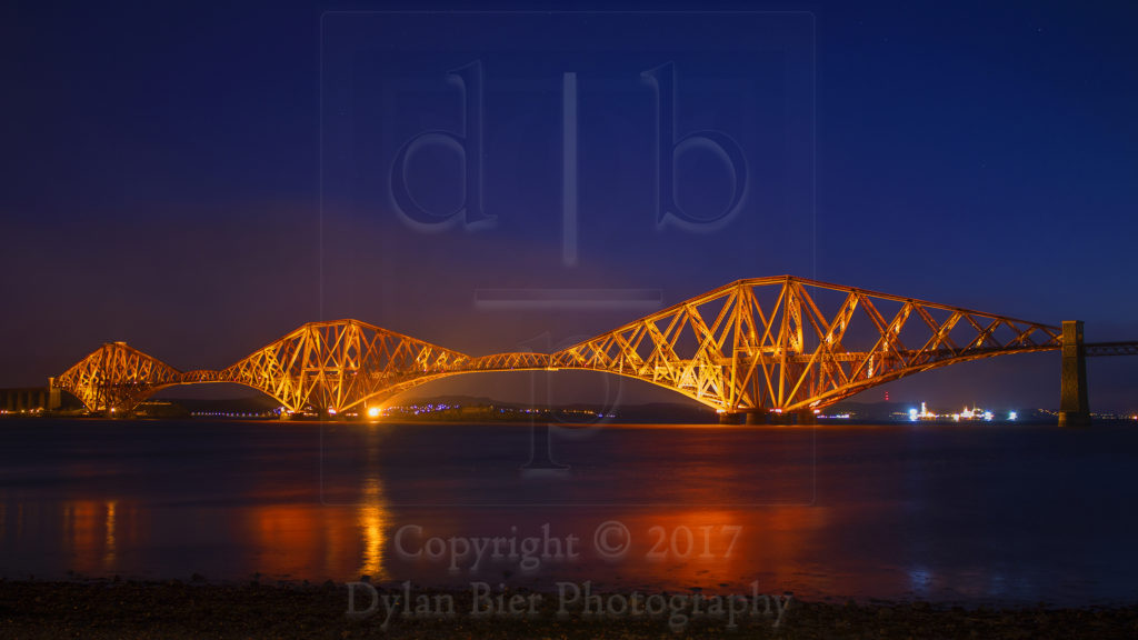 The Forth Railway Bridge at Sunrise