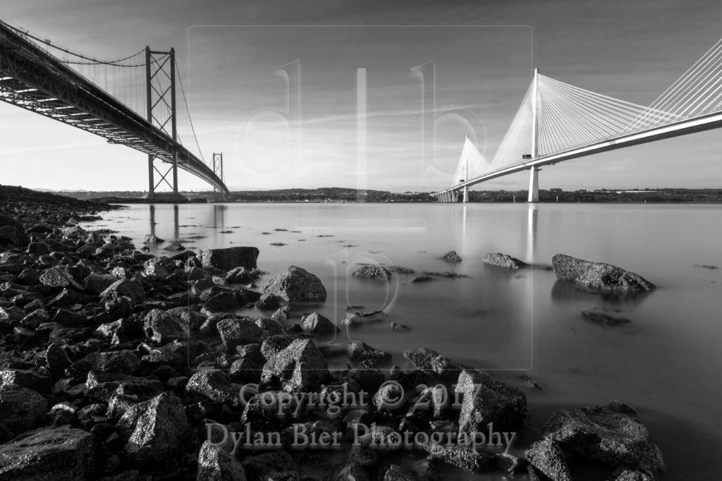 The Forth Road Bridges (Black & White)