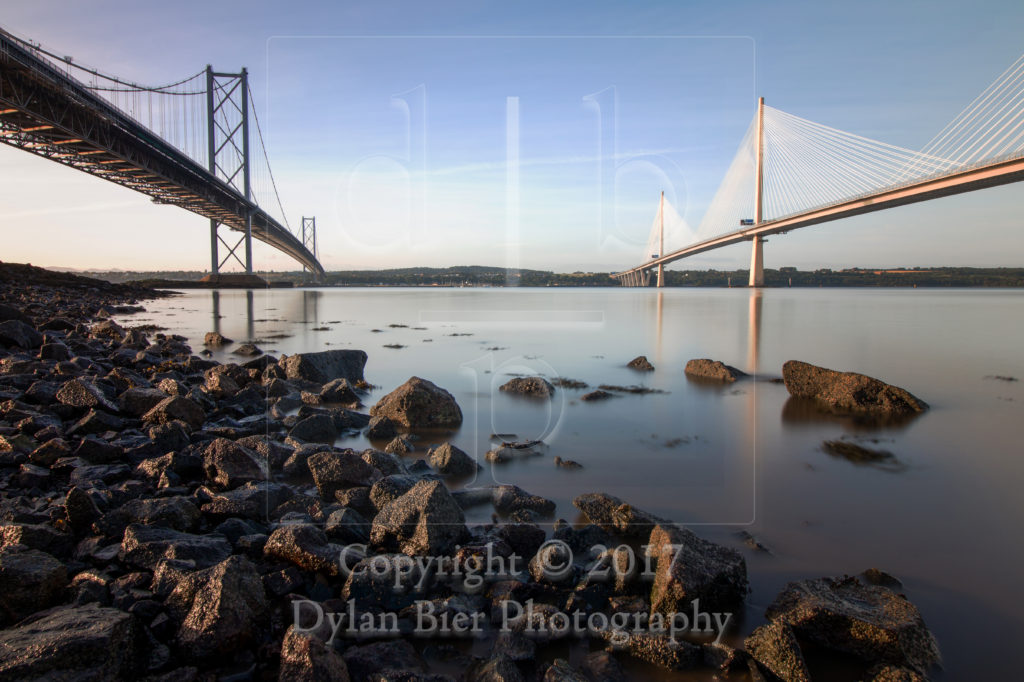 The Forth Road Bridges (Colour)